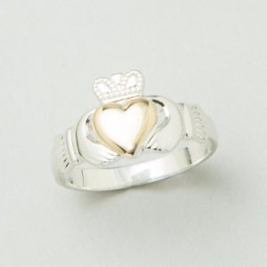 Gold Heart Claddagh Ring